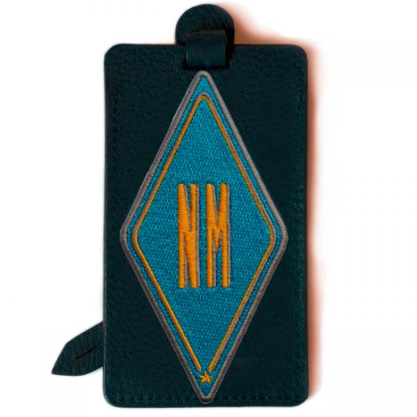 Gepäckanhänger Karo · türkis · personalisierbar