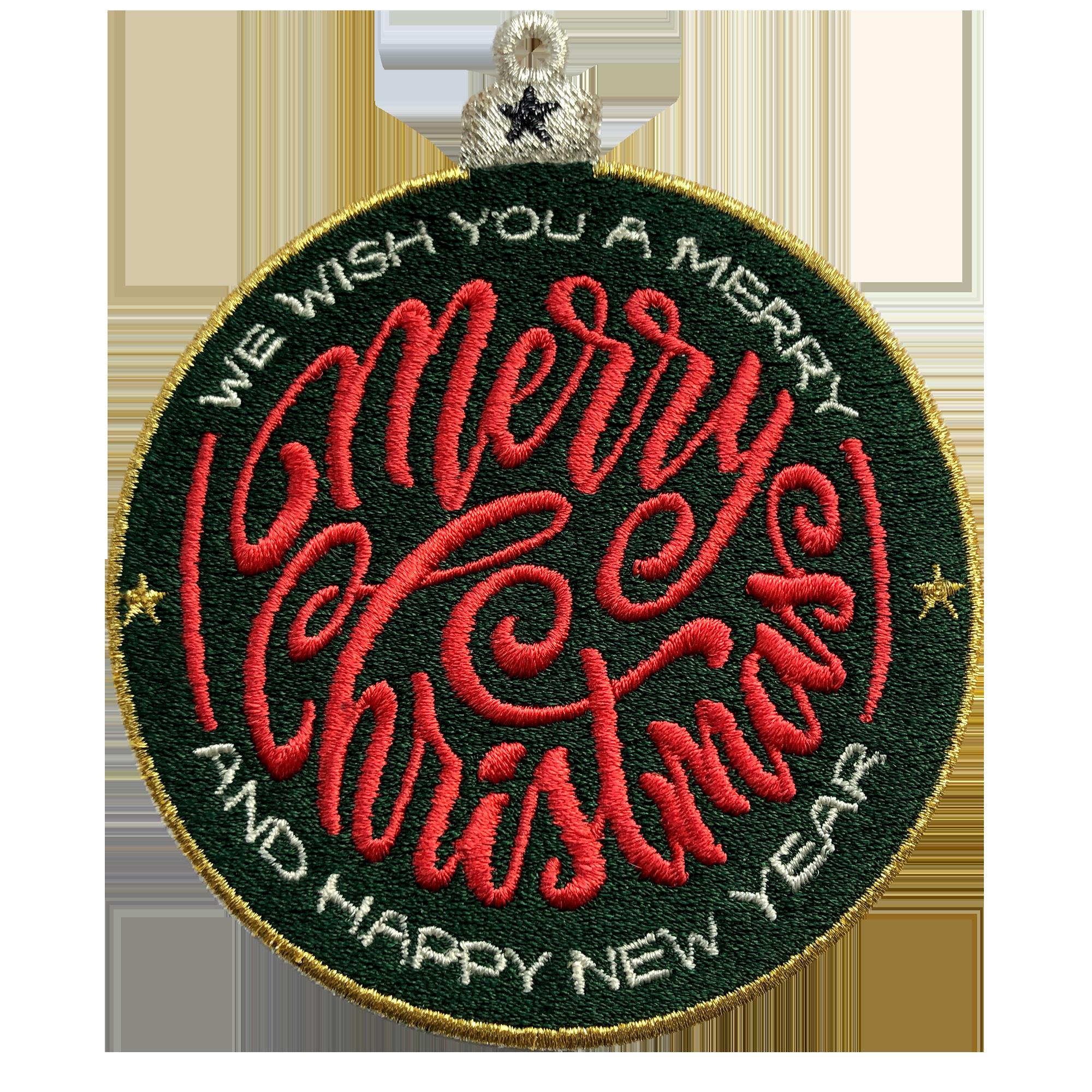 Label MERRY CHRISTMAS