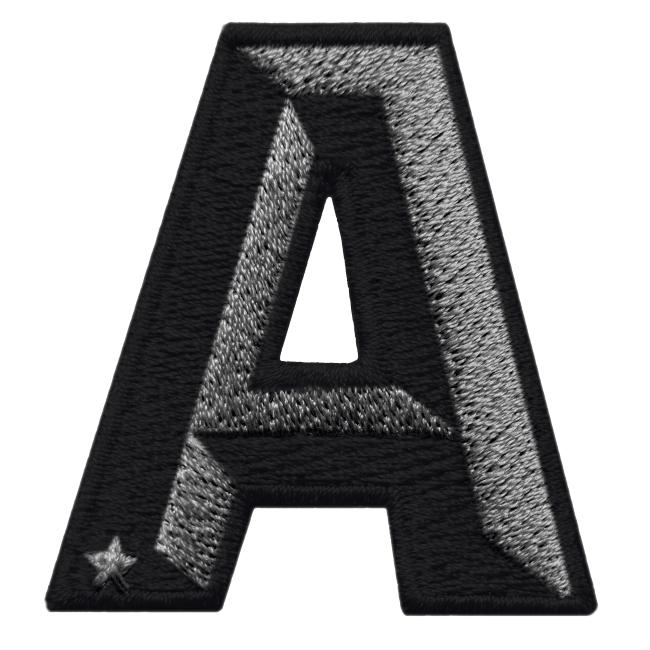 Label SINGLE LETTER · anthrazit metallic/black