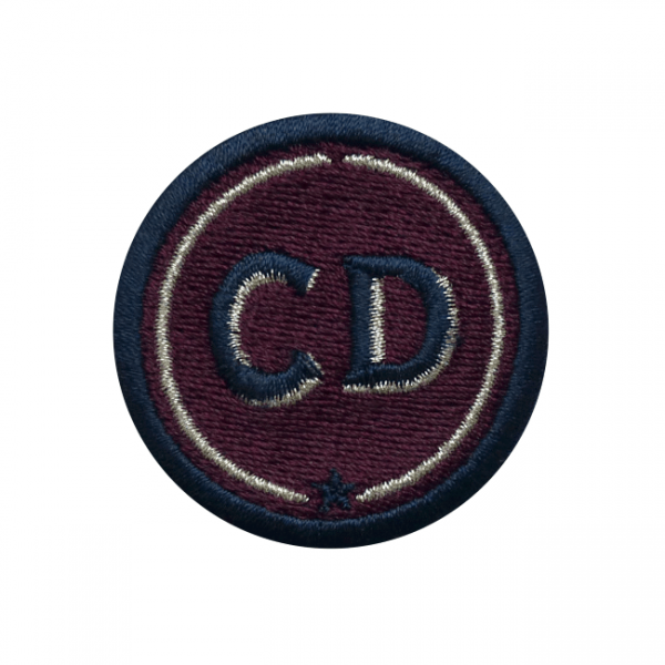 Label INITIALEN · 4cm · bordeaux · personalisierbar