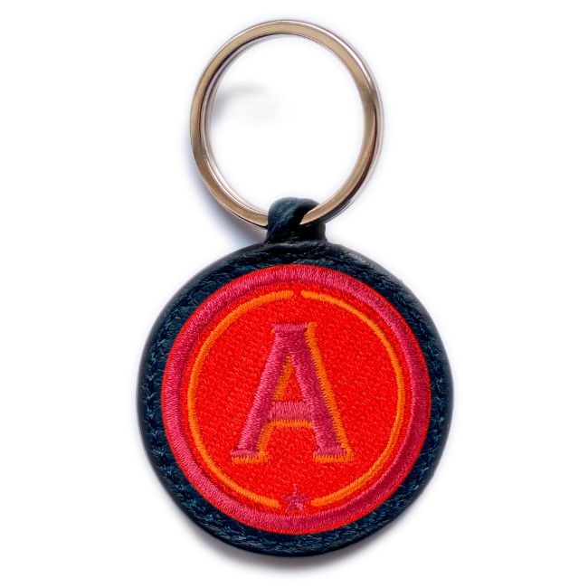 Schlüsselanhänger ABC · rot/pink