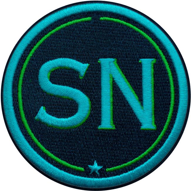 Label INITIALEN · 9cm · türkis/grün · personalisierbar