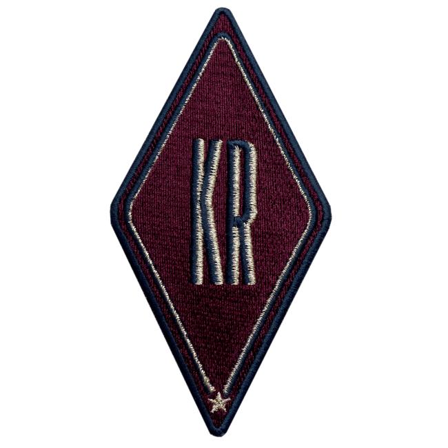 Label Karo · bordeaux · personalisierbar