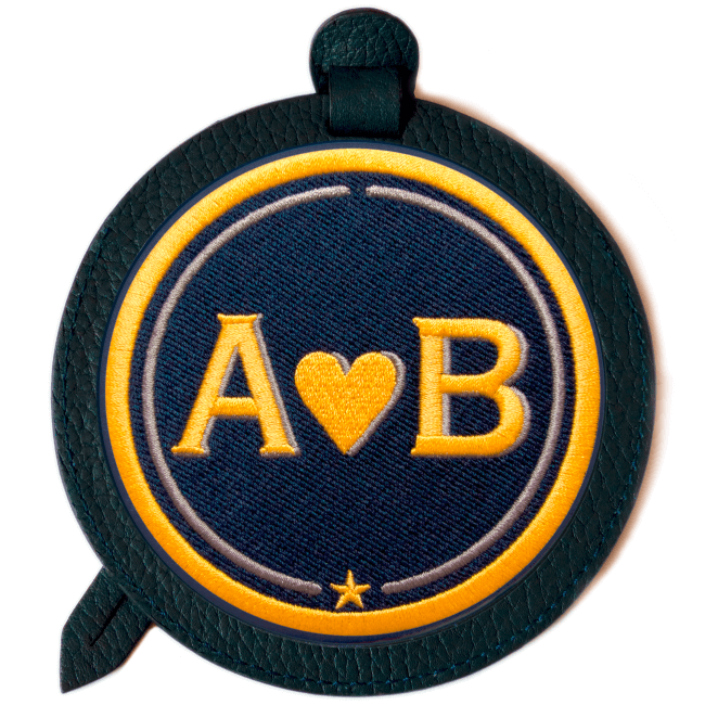 Gepäckanhänger LOVE · gelb/beige · personalisierbar