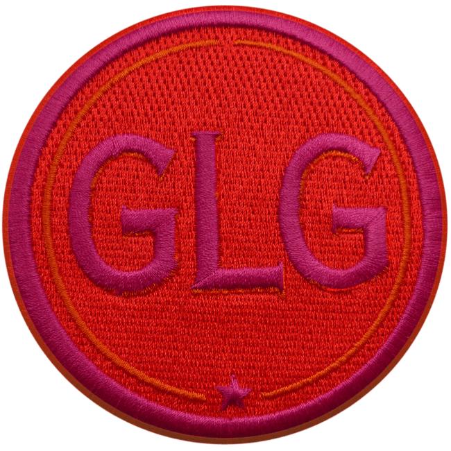Label INITIALEN · 9cm · rot/pink · personalisierbar
