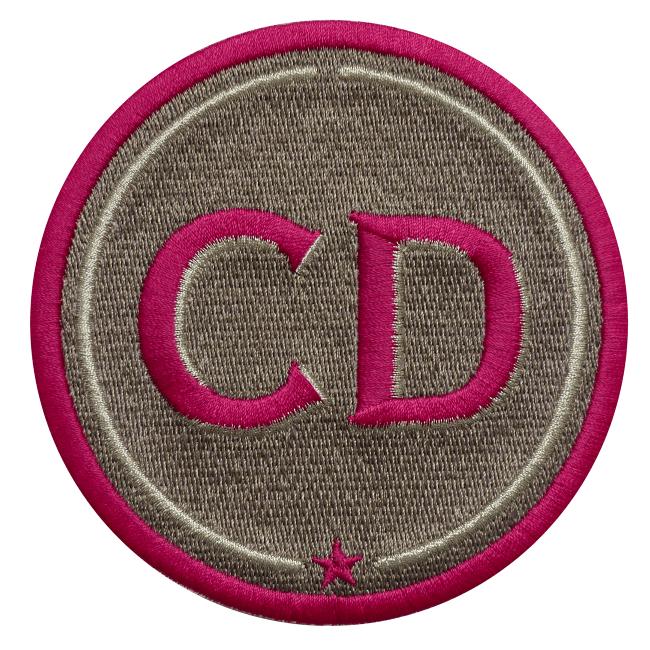 Label INITIALEN · 9cm · beige · personalisierbar