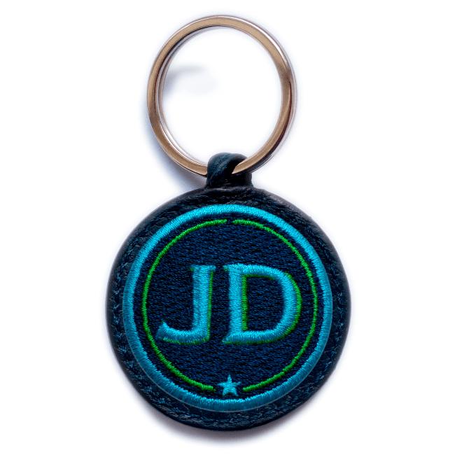 Schlüsselanhänger INITIALEN · türkis/grün · personalisierbar
