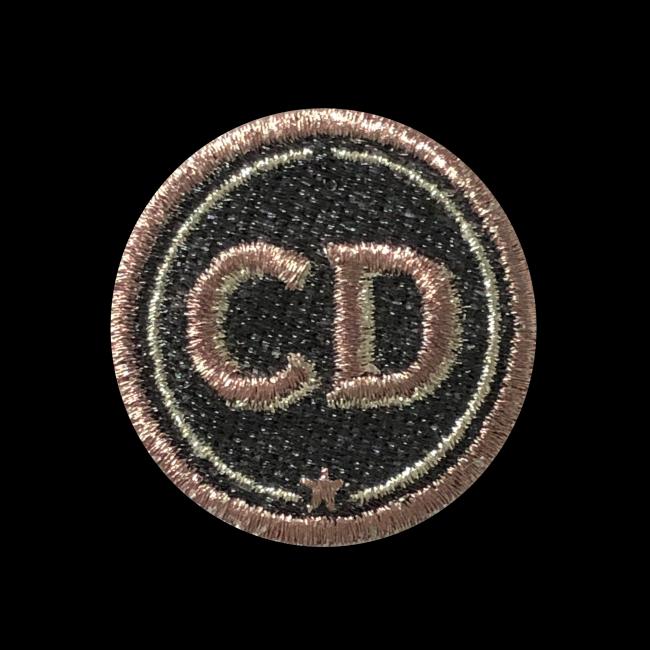 Label INITIALEN · 4cm · grau/metallic · personalisierbar