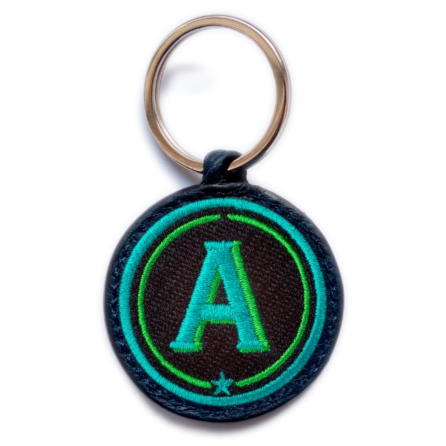 Schlüsselanhänger ABC · türkis/grün