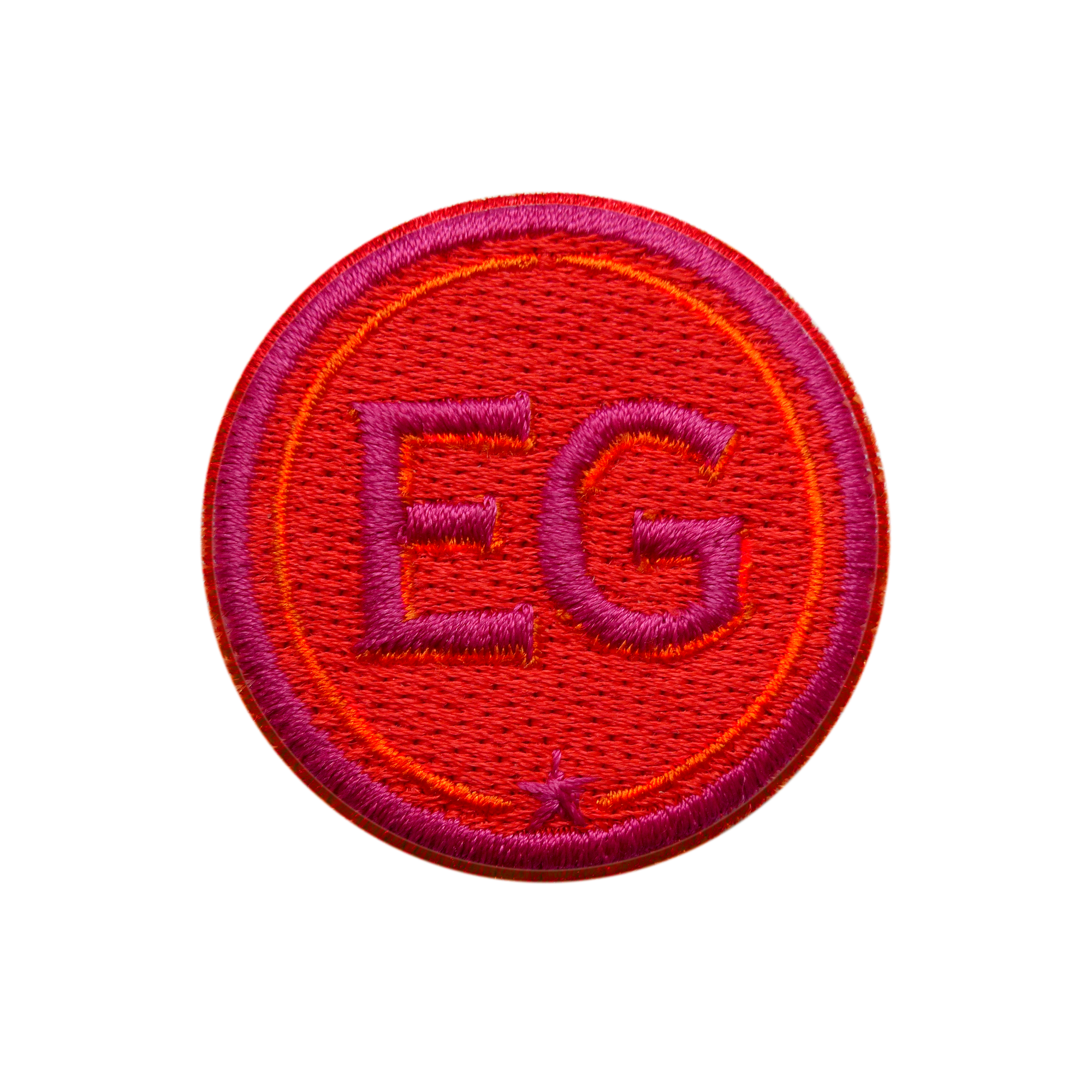 Patch INITIALS · 4cm · red/pink· customizable