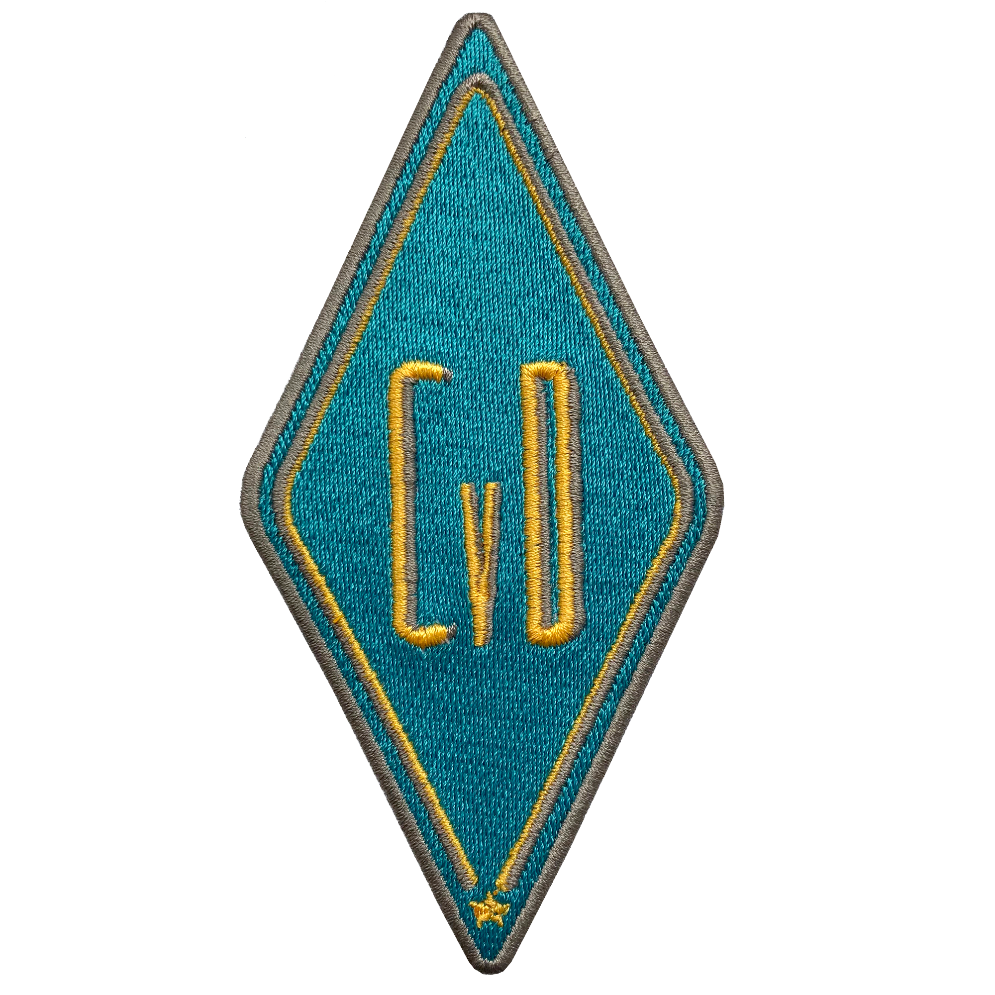 Patch KARO turquoise · customizable