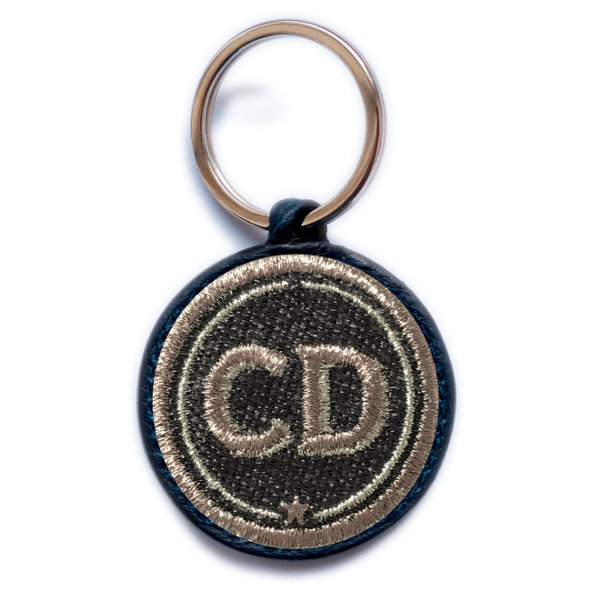Key ring INITIALS · grey/metallic · customizable