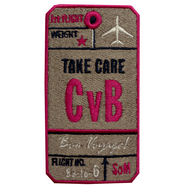 Label AIR TICKET · BEIGE · CUSTOMIZABLE