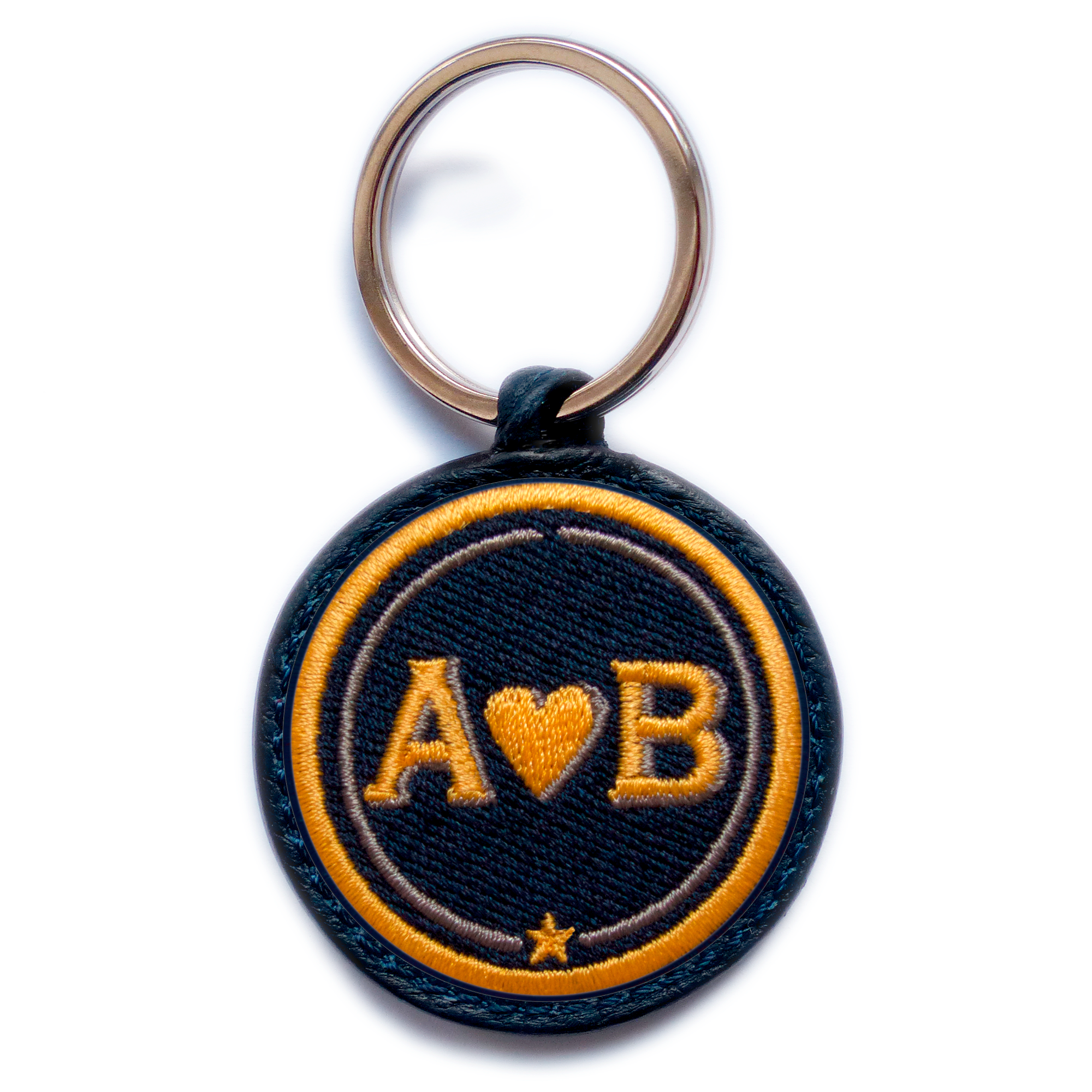 Key-ring LOVE yellow/beige · customizable