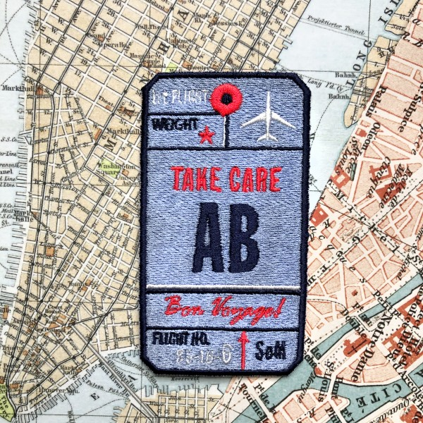 Label AIR TICKET · blau· personalisierbar