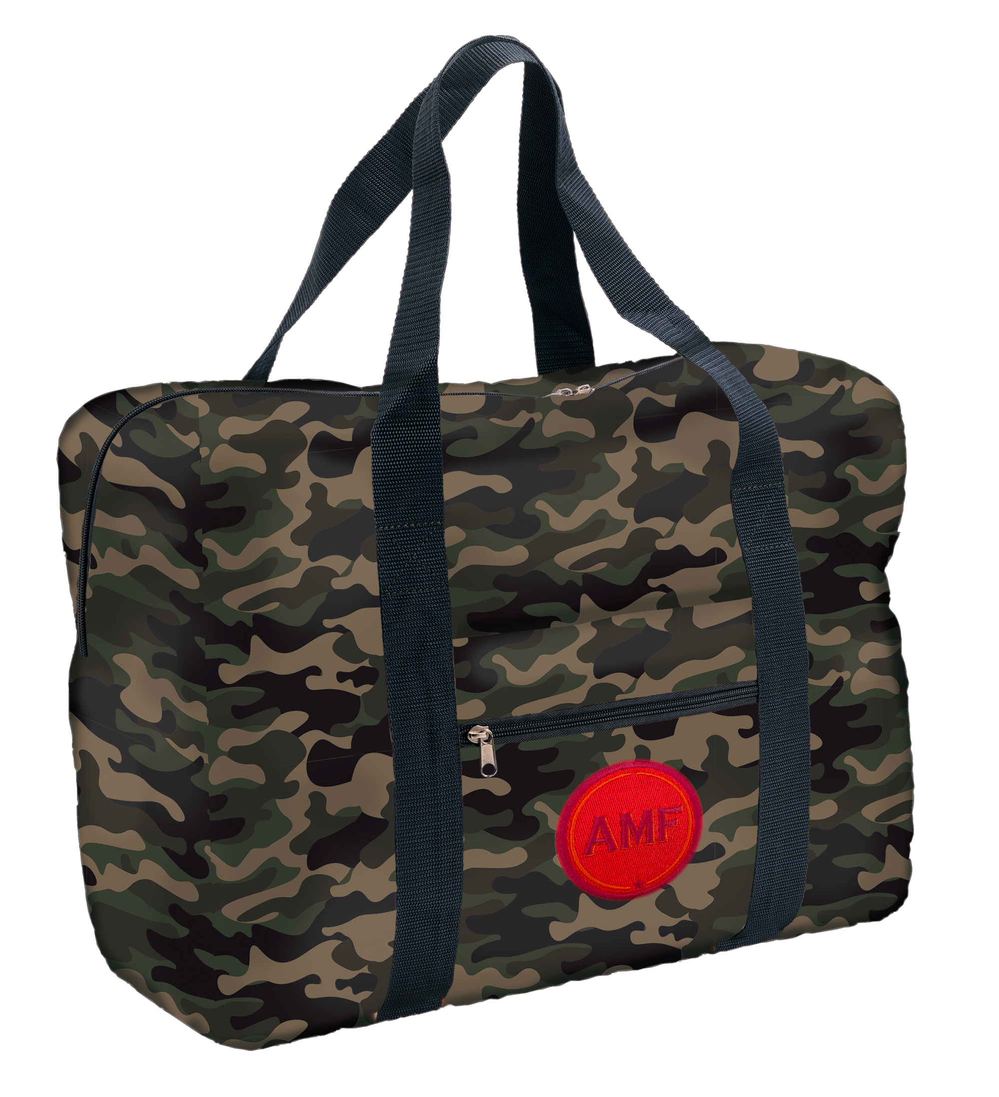 Easy Travel Bag CAMOUFLAGE mit Initialen-Patch