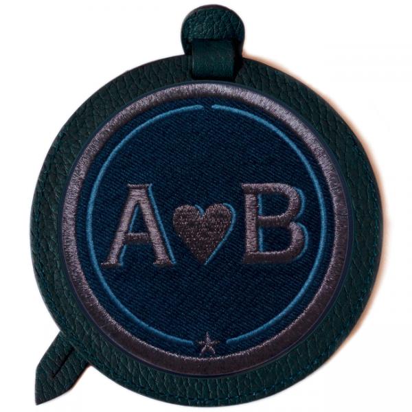Gepäckanhänger LOVE · anthrazit metallic/violett · personalisierbar