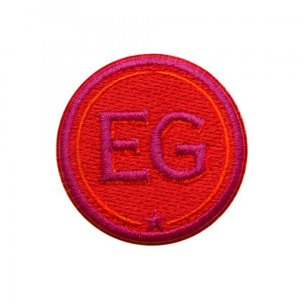 Label INITIALEN · 4cm · rot/pink · personalisierbar