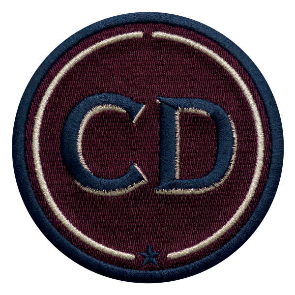 Patch INITIALS · 9cm · bordeaux · customizable