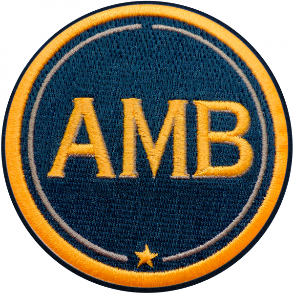 Patch INITIALS · 9cm · yellow/beige · customizable