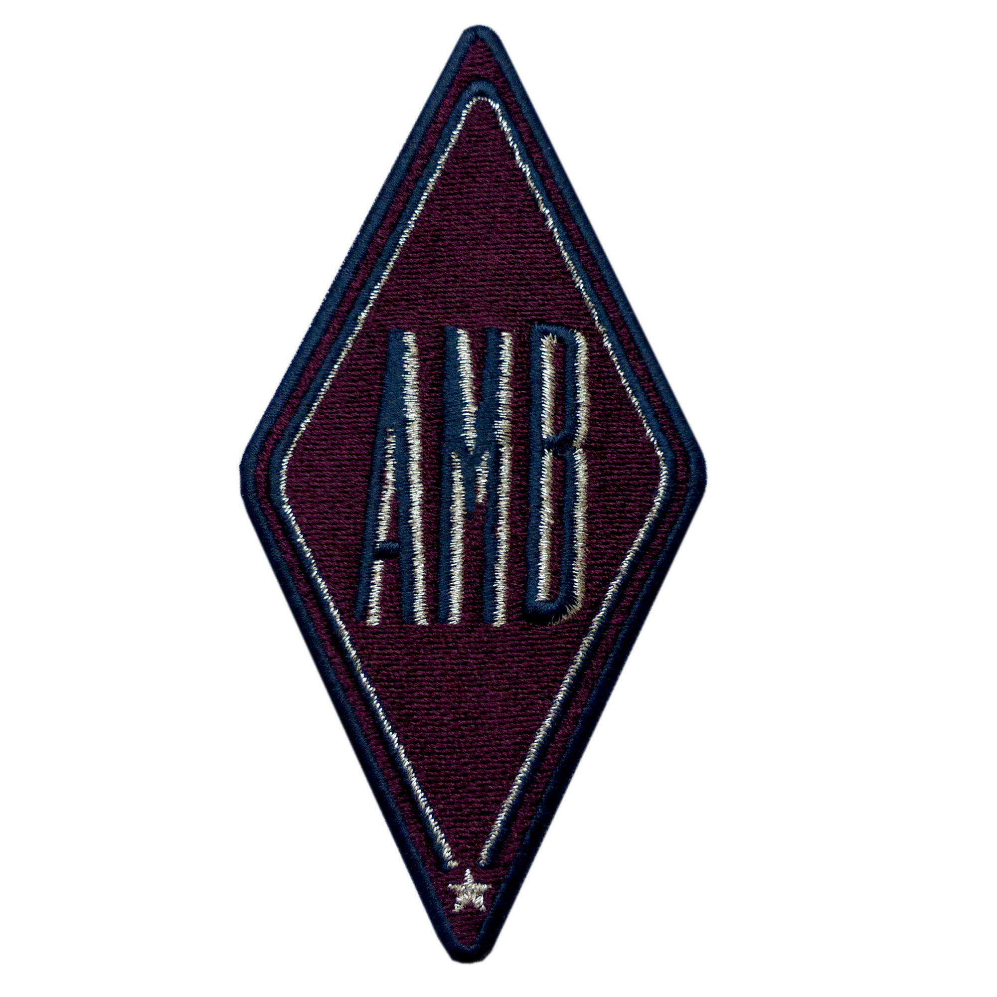 Patch KARO burgundy · customizable