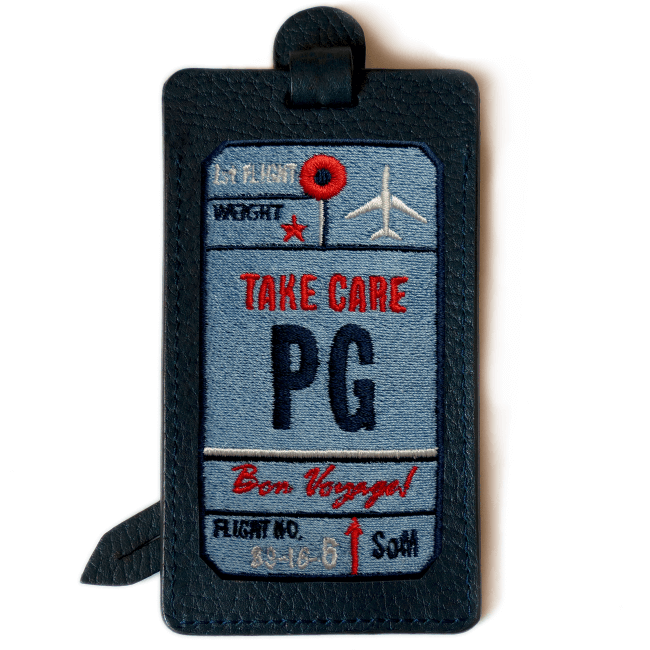 Luggage tag AIR TICKET · BLUE · CUSTOMIZABLE