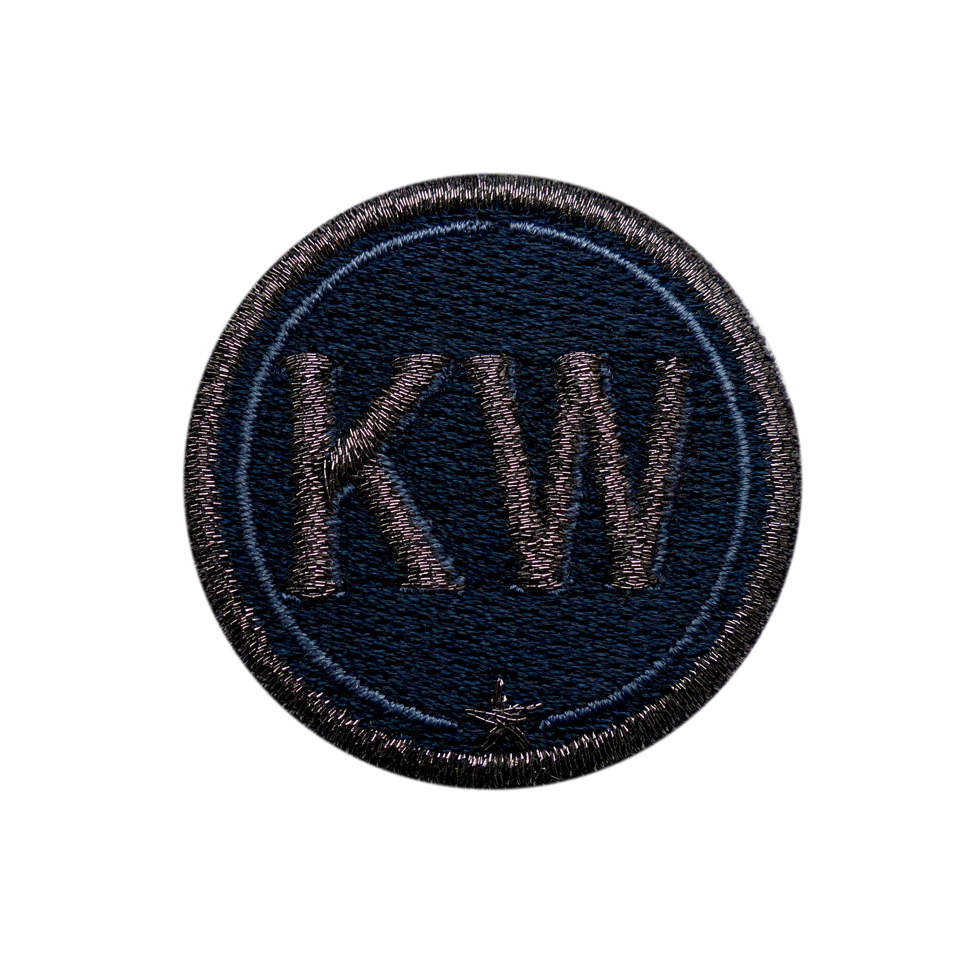 Patch INITIALS · 4cm · anthracite metallic/navy· customizable