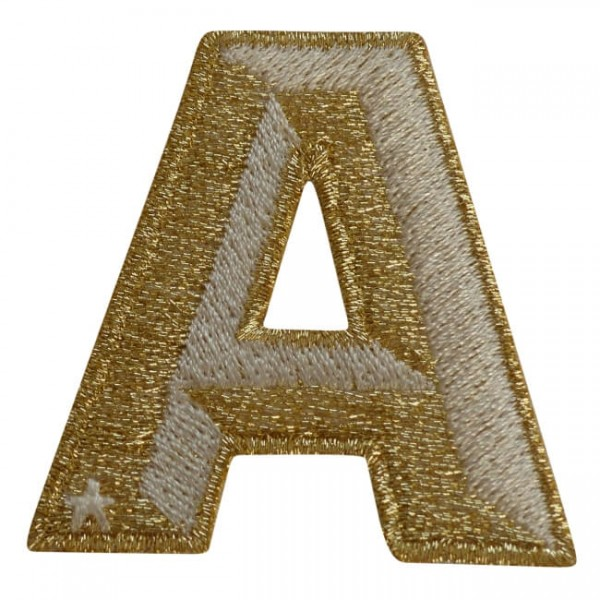 Label SINGLE LETTER · GOLD / WHITE