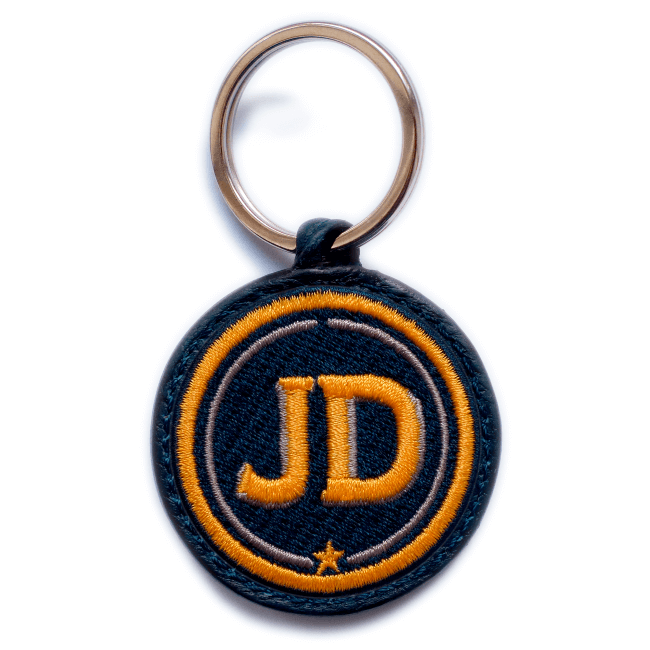 Key ring INITIALS · yellow/beige