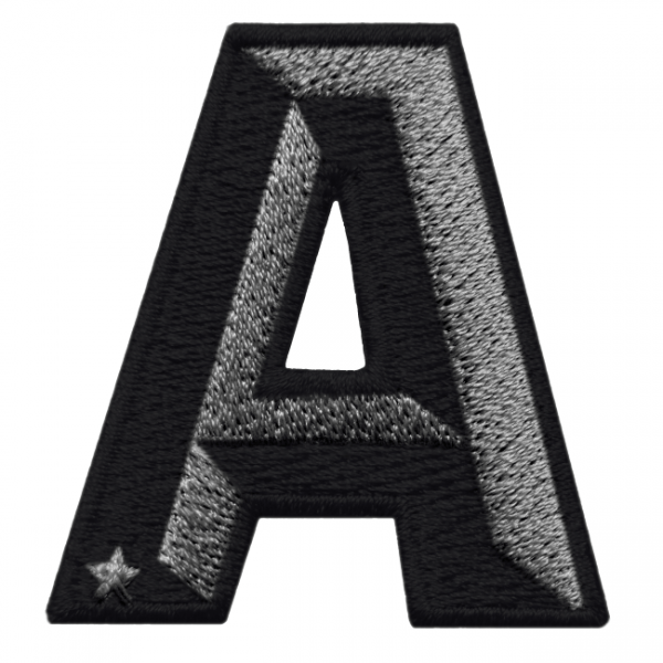 Label SINGLE LETTER · anthrazit metallic/black