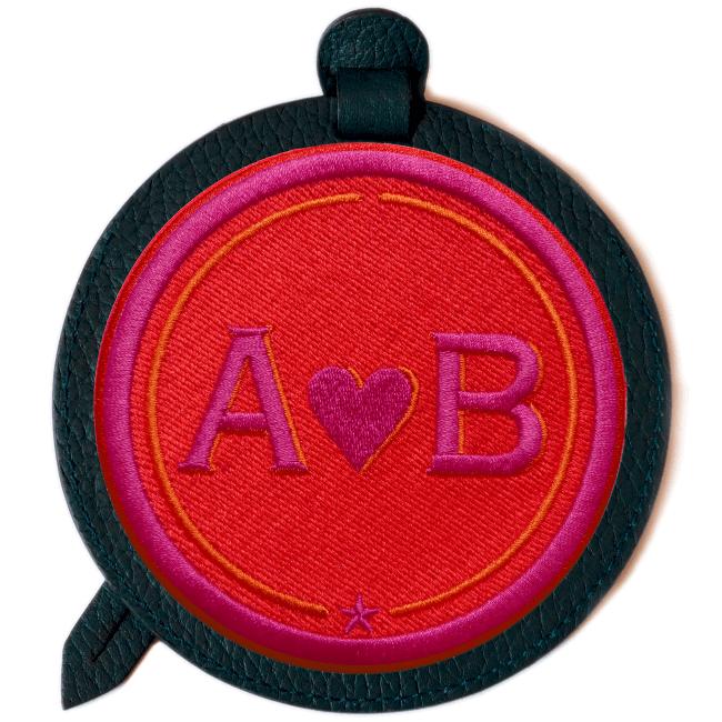 Gepäckanhänger LOVE · rot/pink · personalisierbar