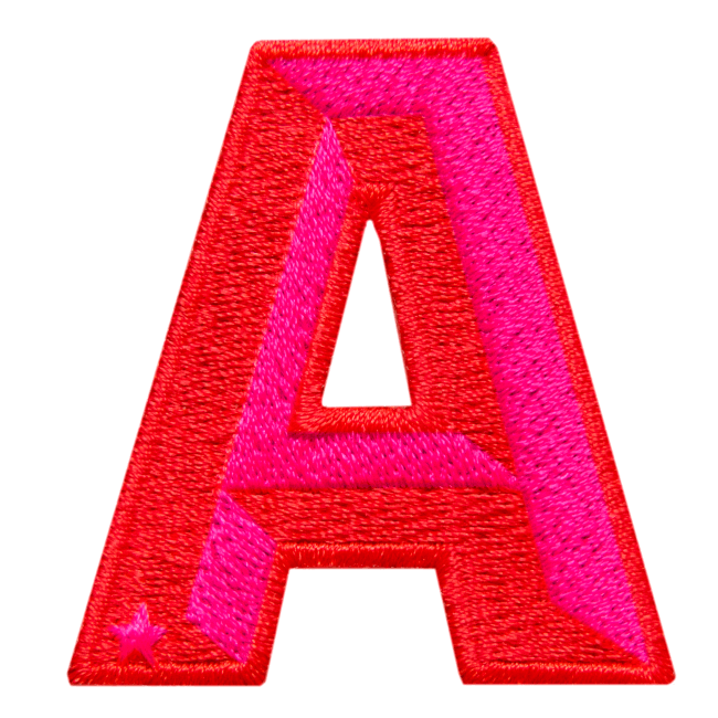 Label SINGLE LETTER · RED / PINK