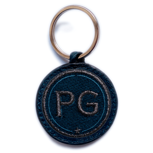 Key ring INITIALS · anthracite metallic/navy