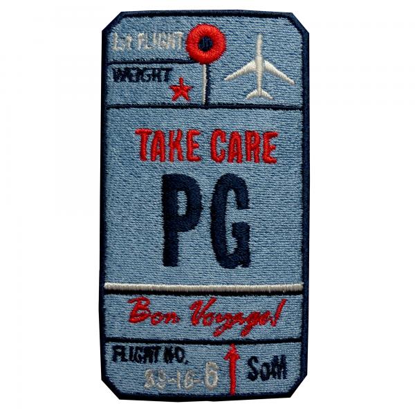 Label AIR TICKET · BLUE · CUSTOMIZABLE