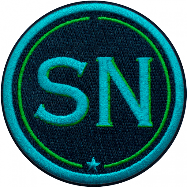 Patch INITIALS · 9cm · turquoise/green · customizable