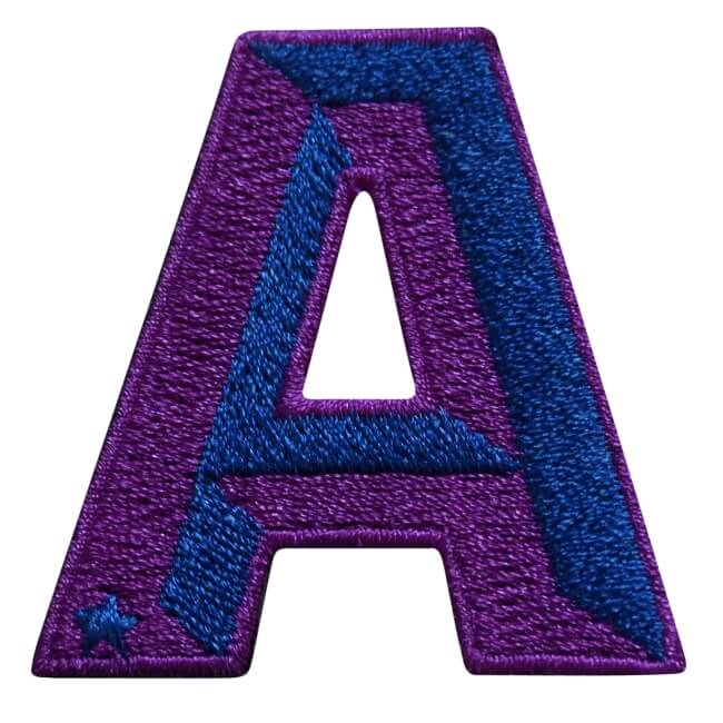 Label SINGLE LETTER · ROYAL BLUE / VIOLET