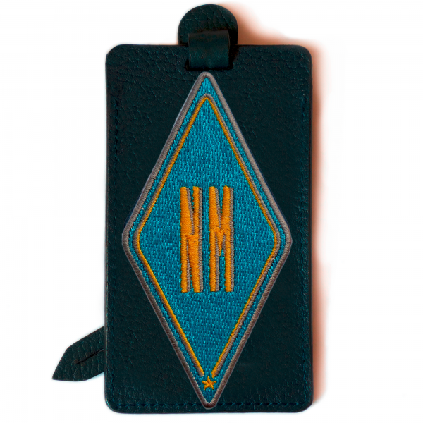 Luggage tag KARO turquoise · customizable