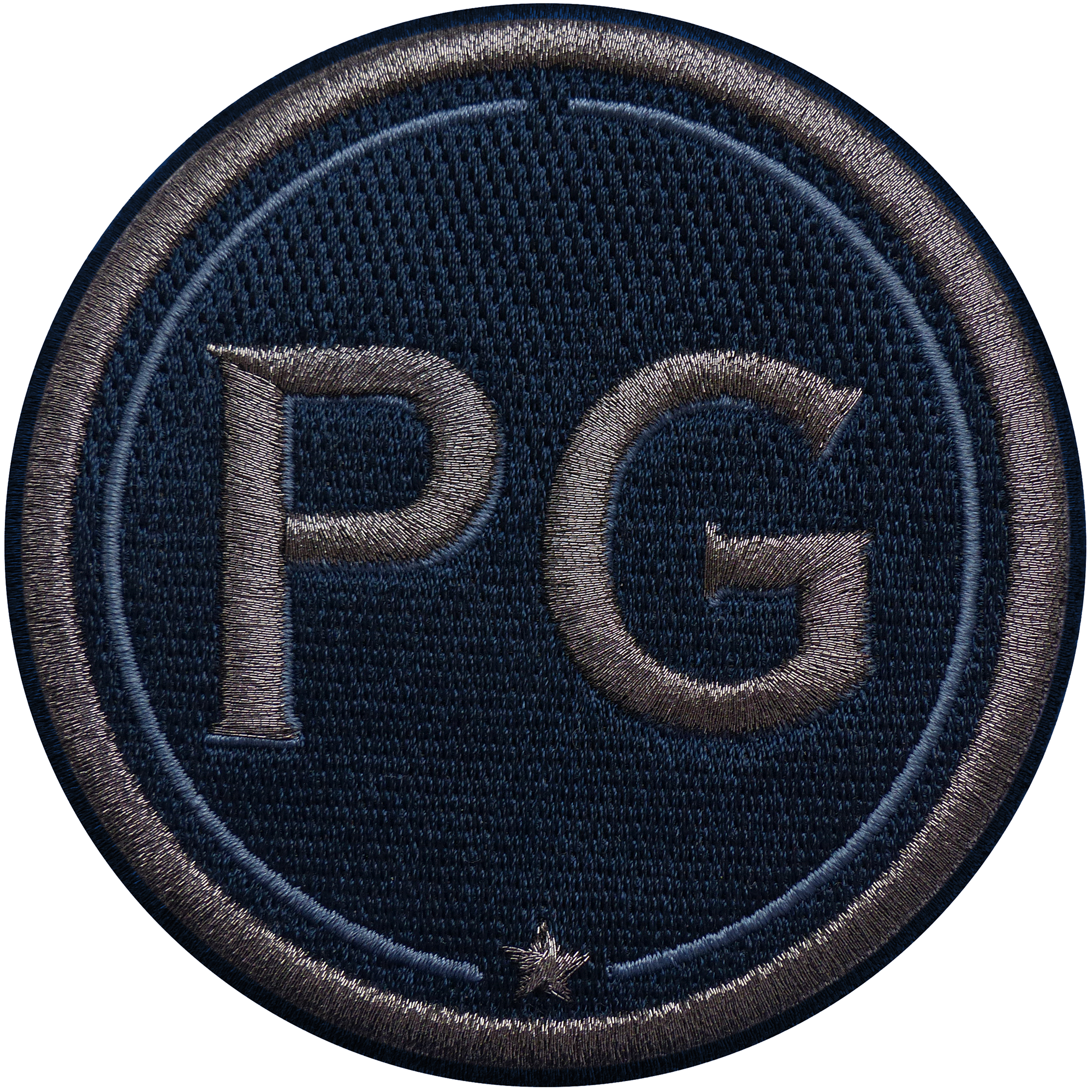 Patch INITIALS · 9cm · anthracite metallic/navy · customizable
