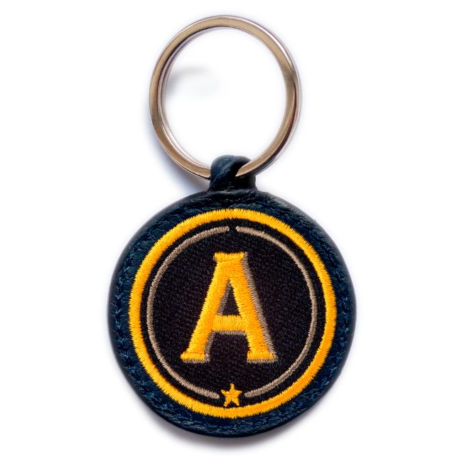 Key ring ABC · yellow/beige