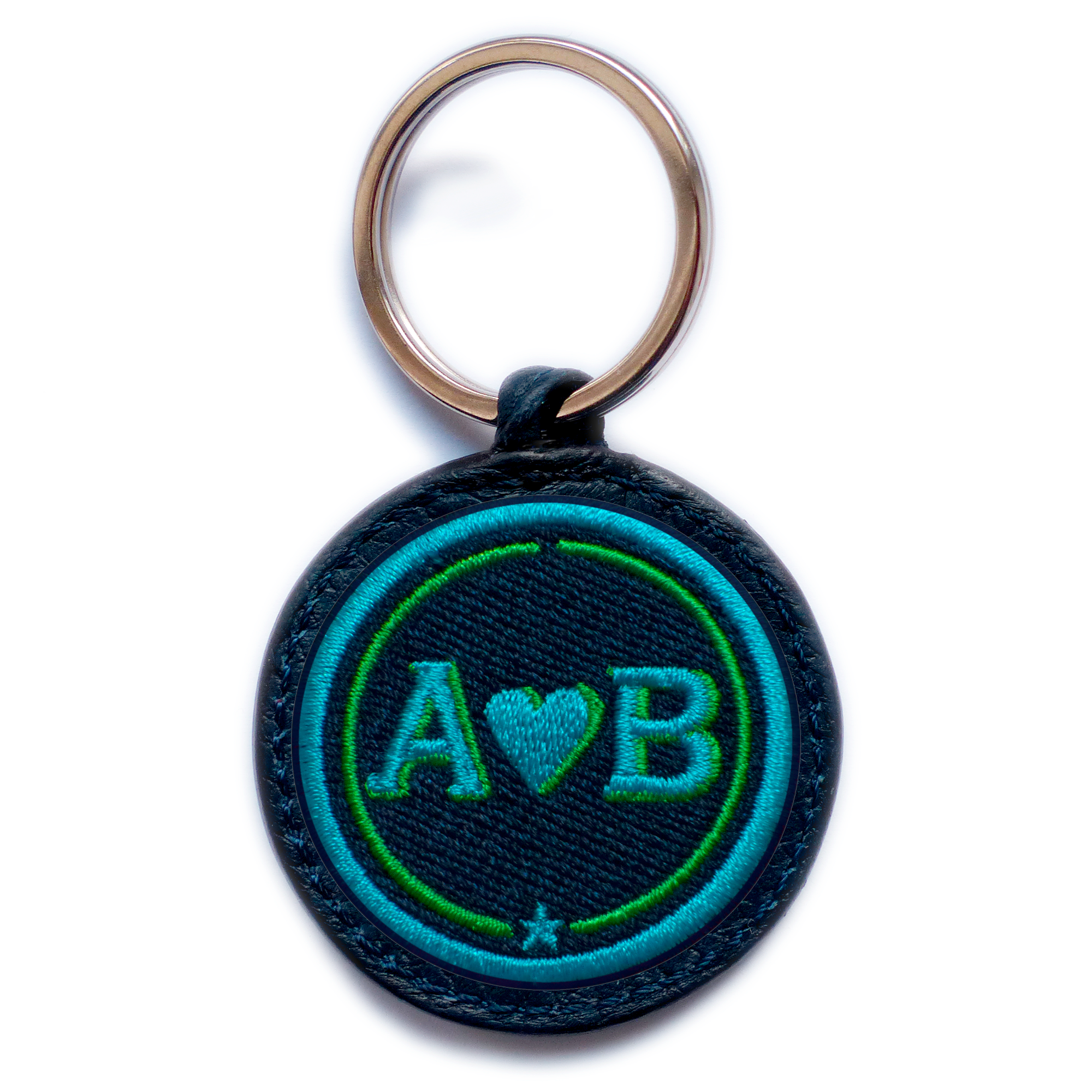 Key-ring LOVE turquoise/green · customizable
