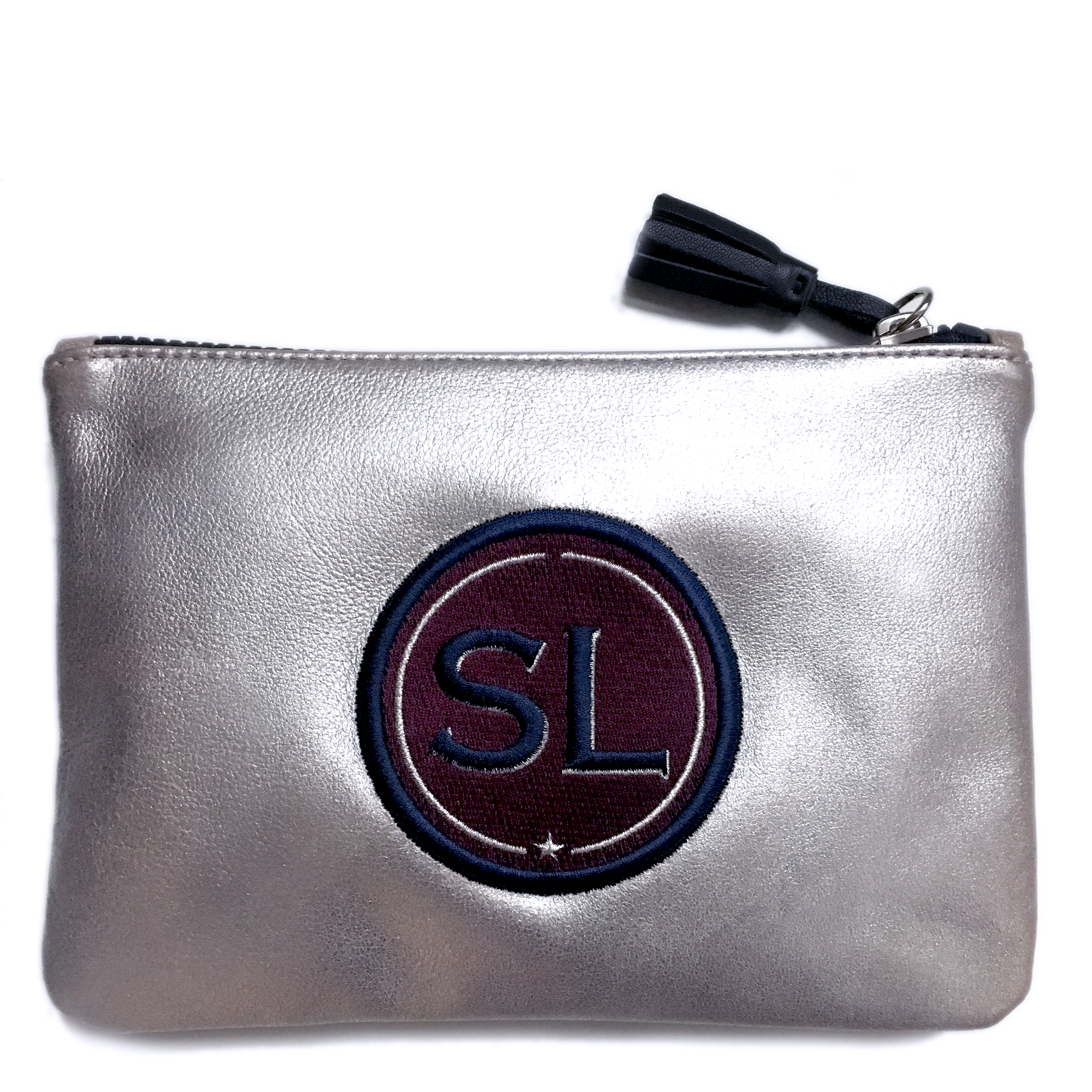 Pouch INITIALS bordeaux · customizable