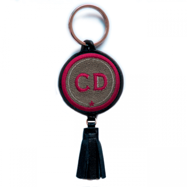 Key ring INITIALS · beige · with tassel · customizable