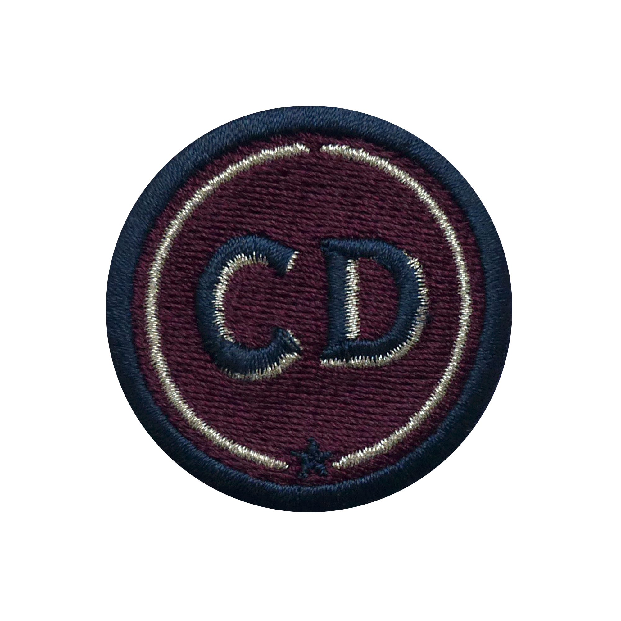 Patch INITIALS · 4cm · bordeaux · customizable