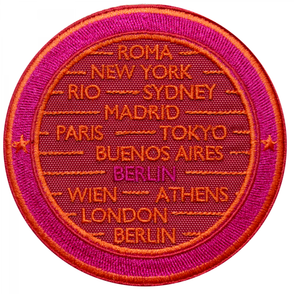 Label CITIES · RED / PINK· CUSTOMIZABLE