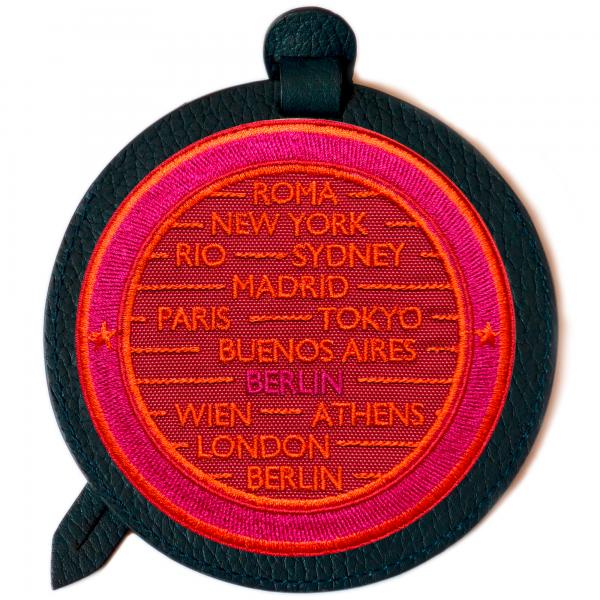 Gepäckanhänger CITIES · rot/pink · personalisierbar