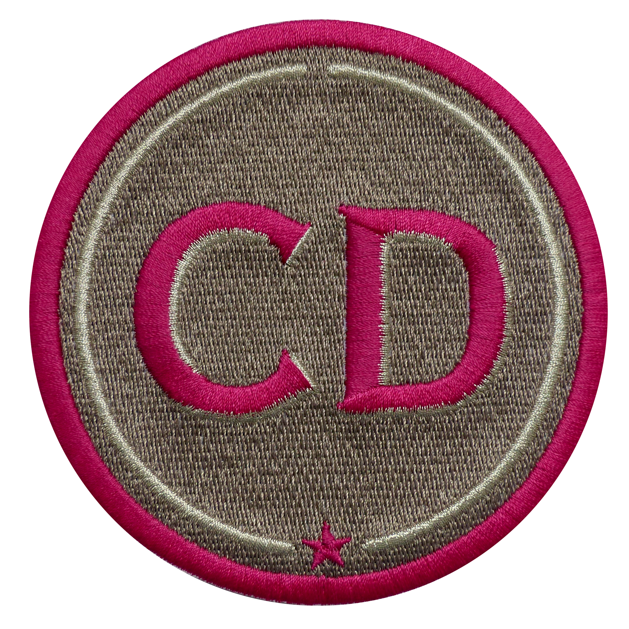 Patch INITIALS · 9cm · beige · customizable