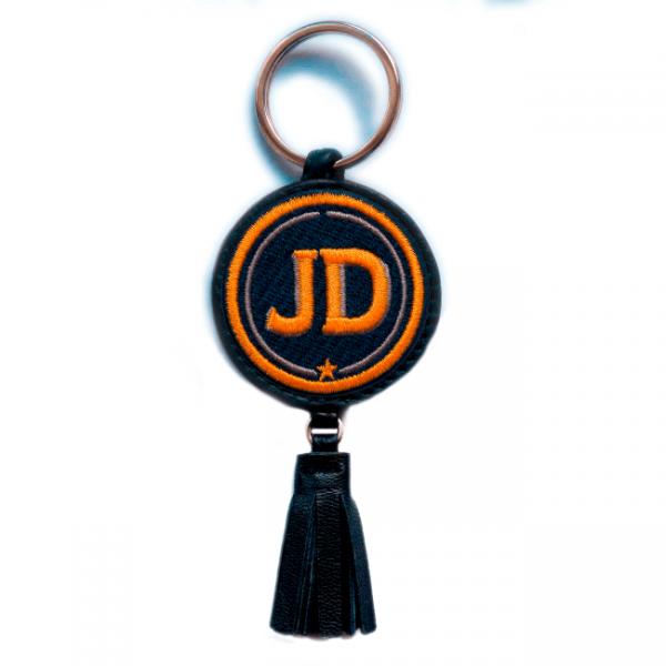 Schlüsselanhänger INITIALEN · gelb/beige · mit Tassel · personalisierbar