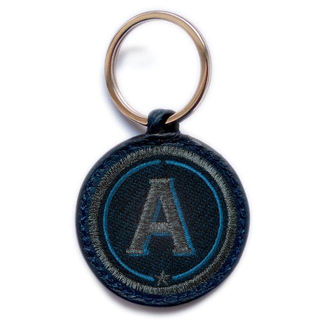 Schlüsselanhänger ABC · anthrazit metallic/marine