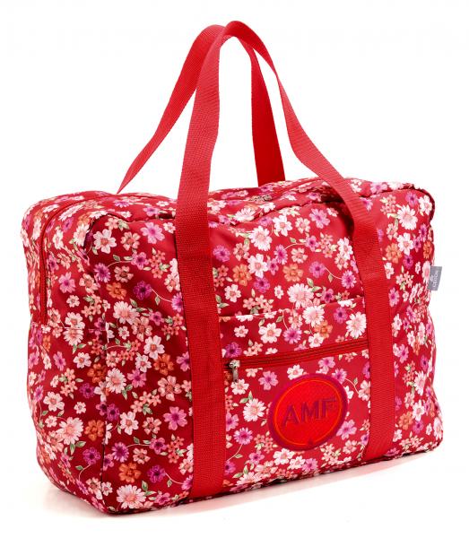 Easy Travel Bag BLÜTEN mit Initialen-Patch