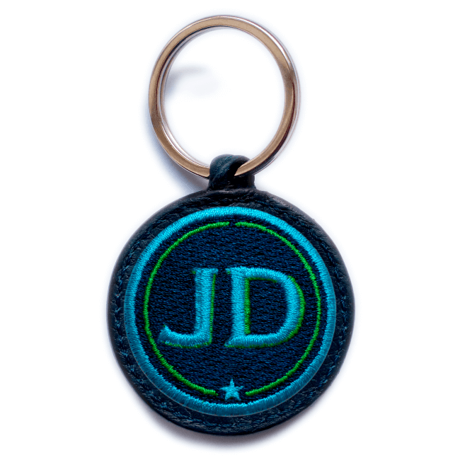 Key ring INITIALS · turquoise/green · customizable